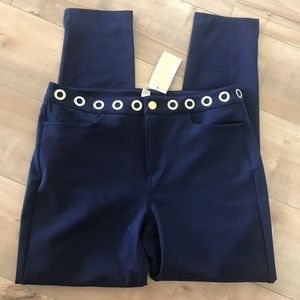 Michael Kors NWT Navy Blue /Gold Pants Sz 8